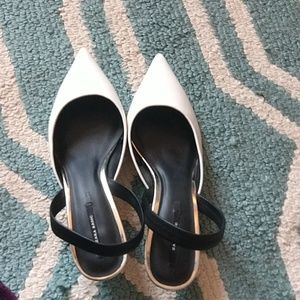 ZARA White kitten heels WOMENS